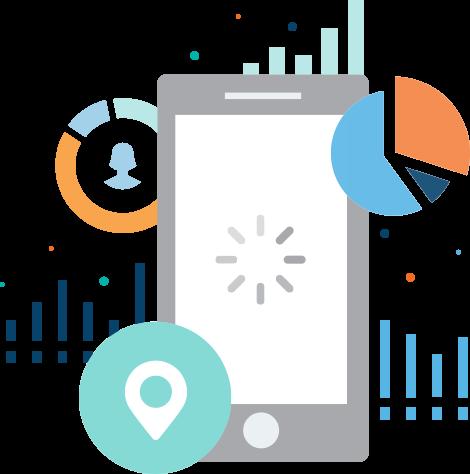 mobile phone data illustration